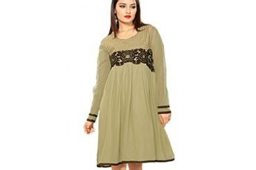 Alluring Embroidered Georgette Kurti