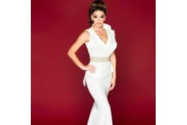 Mac Duggal Black White Red - Style 70002R