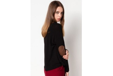 Cloth Inc Elbow Patch Pullover Blouse