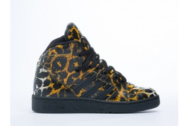 Adidas Originals X Jeremy Scott Instinct Hi in Leopard size 9.0