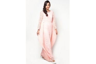 Zalia Crochet Lace Kaftan With Belt