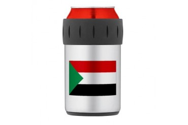 Sudan Thermos Can Cooler Flag Thermosreg; Can Cooler by CafePress
