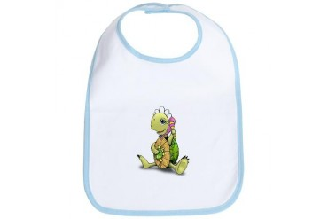 Baby Girl Turtle Turtle Bib by CafePress