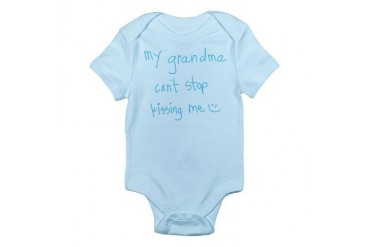 My Grandma Can't Stop Kissing Me : Grandma Infant Bodysuit by CafePress