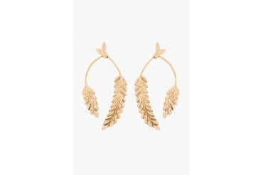 Aurlie Bidermann Gold Plated Wheat Head Articulated Pendent Earrings