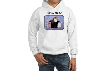 Bunny Magic n text Bunnies Hooded Sweatshirt by CafePress
