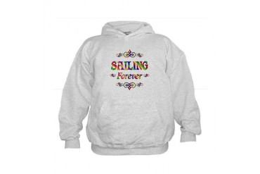 Sailing Forever Sports Kids Hoodie by CafePress
