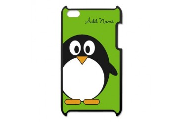 Add Name Cute Penguin Green iPod Touch 4 Case