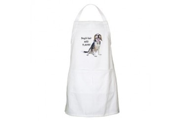 "BEAGLE HAIR ADDS FLAVOR!"" BBQ Apron"