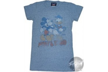 Disney Mickey Mouse and Donald Duck Baby Doll Tee by JUNK FOOD