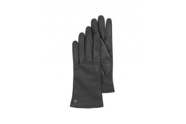 Black Leather Women's Gloves w/Cashmere Lining