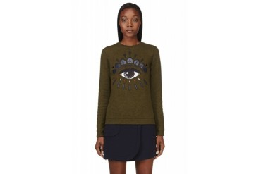 Kenzo Green Embroidered Eye Sweatshirt