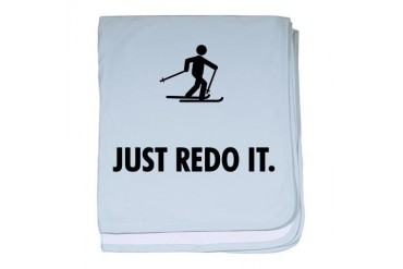 Cross Country Skiing Funny baby blanket by CafePress