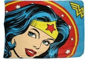 DC Comics Wonder Woman Head Close Up Fleece Throw Blanket