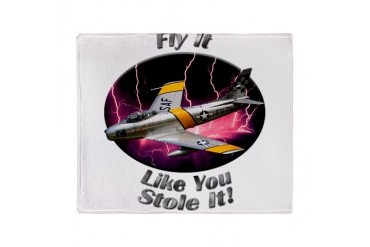 F-86 Sabre Stadium Blanket Hobbies Throw Blanket by CafePress