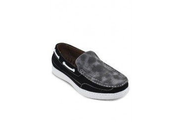 Contrast Embossed Loafers