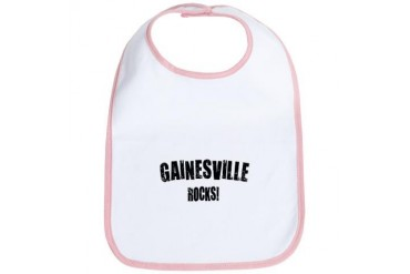 Gainesville Fl Rocks Florida Bib by CafePress