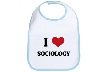 I Love Sociology Love Bib by CafePress