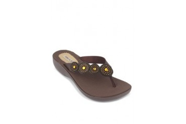 Coffee Wedge Sandals