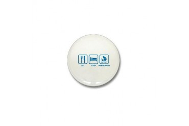 Eat Sleep Windsurfing Funny Mini Button by CafePress