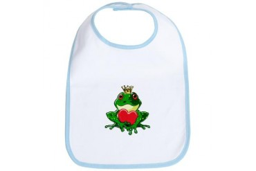 Prince Froggy Frog Bib by CafePress