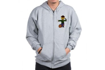 Scarecrow Holiday Zip Hoodie by CafePress