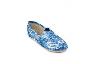 Hillary Washed-Denim Slip-ons