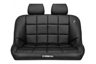 Corbeau Baja Rear Bench Seat in Black Vinyl 64401 Seat
