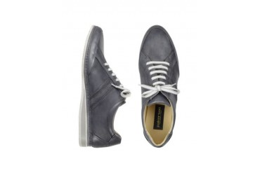 Signature Grey Leather Sneaker Shoes