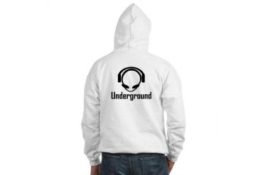 Alien Head DJ Underground Music Hooded Sweatshirt by CafePress