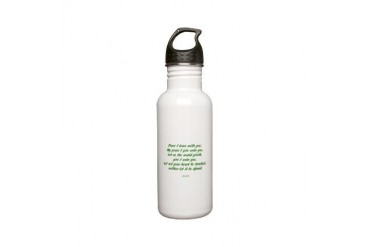 peace Art Stainless Water Bottle 0.6L by CafePress