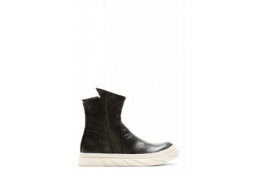 D.gnak By Kang.d Buffed Leather Pointed Collar Boots