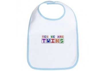 Yes, We Are Twins Funny Bib by CafePress