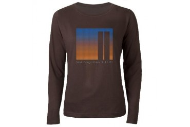 Tribute to 9-11 New york city Women's Long Sleeve Dark T-Shirt by CafePress
