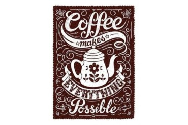 Coffee Makes Everything Possible Poster Print by Snowdon Designs (18 x 24)