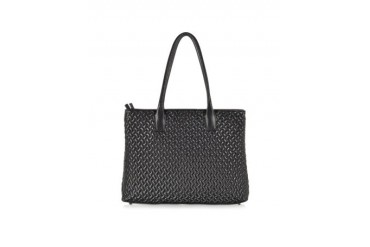Black Large Quilted Leather Tote