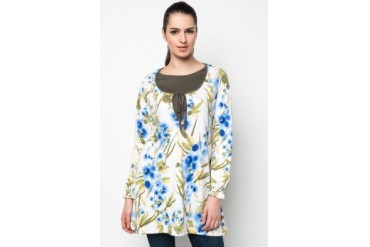 Aqeela Muslimah Wear Nursing Blouse With Floral Prints