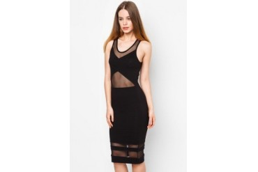 LASH Dress With Mesh Details