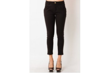 Voerin Long Black Pants Spandex Hitam