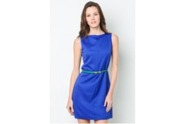 Lana Boatneck Shift Dress with Belt