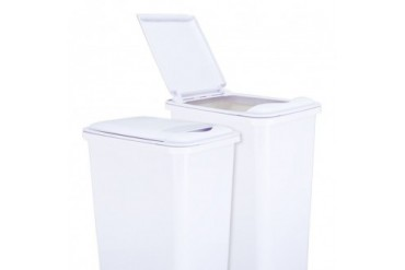 Hardware Resources Lid For 50-Qt Plastic Waste Container White Can-50Lidw