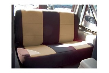 Coverking Black and Tan Neoprene Rear Seat Cover  SPC158 Seat Cover