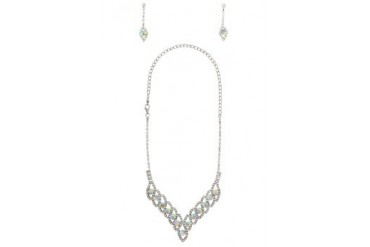 Black Queen Diamante Necklace Set