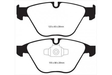 EBC Brakes Yellowstuff Street And Track Brake Pads DP41512R Disc Brake Pads
