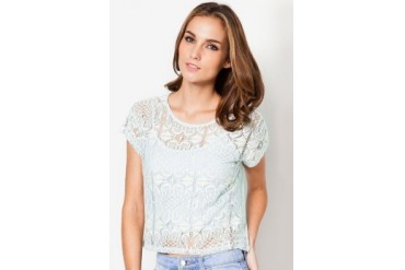 Mint Lace Tee