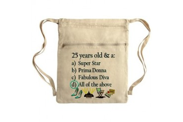 HAPPY 25TH BIRTHDAY Sack Pack Happy birthday Cinch Sack by CafePress