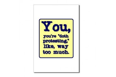 You're doth protesting like, Postcards Package Quotes Postcards Package of 8 by CafePress