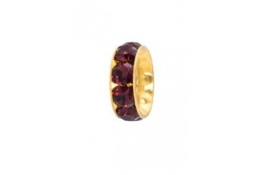 BECHARMED MADE WITH SWAROVSKI ELEMENTS Gold Plated Rondelle Bead