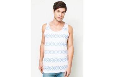 River Island White Tribal Print Stripe Vest
