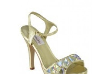 Dyeables Shoes - Style Kelly Gold Metallic 36914